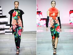 """Striking prints, imaginative uses of color, and geometric """"crossing lines"""" were the captivating highlights of the Peter Pilotto collection."""