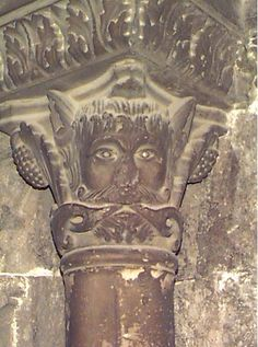Green Man in the cloister of the church of St. Trophime, Arles, France (photo John W. Schulze)