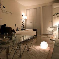 SnSさんの、ワンルーム,一人暮らし,1R/1K,ホワイトインテリア,モノトーン,ベッド周り,のお部屋写真
