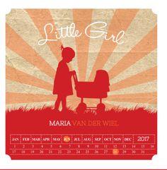 Trendy geboortekaartje met vrolijke kleuren en silhouet. Gebruik deze kaart en maak hiervan zelf je eigen persoonlijke geboortekaartje. Wil je de kaart door ons laten opmaken? Geen probleem, wij helpen je graag!