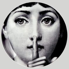 """Plate 334 from Piero Fornasetti's """"Theme and Variations"""" series"""
