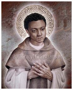St. Martin de Porres Art Print Catholic Patron Saint by Tracy Christianson. I LOVE her art.