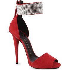 GIUSEPPE ZANOTTI Swag heeled sandals (Red