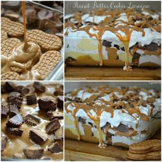 pb cookie lasagna cake-- this may just be the next dessert I make.