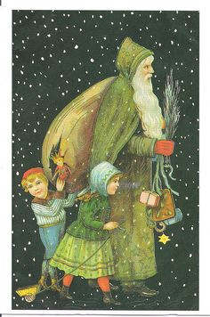 Merry Christmas Santa Claus-Netherlands by Mailbox Happiness-Angee at Postcrossing, via Flickr