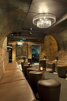Fixed Seating & Bar Furniture for Dirty Martini Bar, London