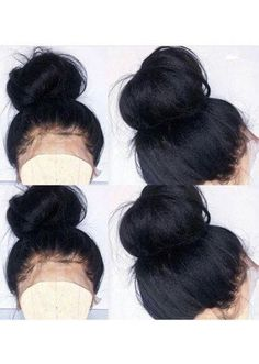 Lace Front Black Wigs Natural Color African American Wigs Under 50 Afr – Shebelt mall Cuban Twist Hair, Hair Spa At Home, Natural Hair Styles, Short Hair Styles, Natural Updo, Dark Hair With Highlights, Wigs Online, Black Wig, Wigs For Black Women