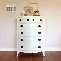 NEW! White bow front antique tall dresser with original hepplewhite hardware- modern chic- San Francisco Bay Area by ShabbyRootsBoutique on Etsy https://www.etsy.com/listing/497780076/new-white-bow-front-antique-tall-dresser