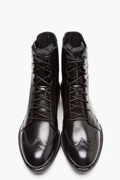 Y-3 Black Leather Manake Boots