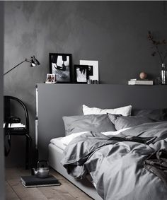 Minimalist Home Bedroom Apartment Therapy minimalist bedroom diy dreams.Minimalist Home Design Life minimalist bedroom neutral simple. Stylish Bedroom, Gray Bedroom, Home Decor Bedroom, Modern Bedroom, Bedroom Ideas, Bedroom Designs, Bedroom Inspo, Bedroom Inspiration, Ikea Bedroom