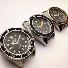 Heuer 1000m Deep Dive...Blancpain Fifty Fathoms 3H Bund...Squale Marina Militare 50 Atmos