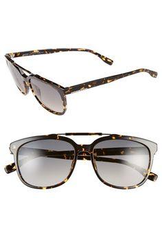 Men's BOSS 56mm Retro Sunglasses - Havana Spotted/ Grey Gradient