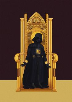 "Darth Vader Enthroned - ""Star Wars"" As Medieval Manuscripts from http://cheychao.tumblr.com/"