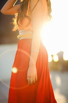 Sunset :: Orange  Beautiful maxi skirt