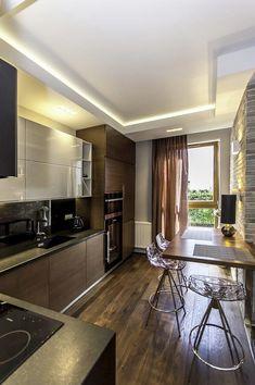 Kitchen Dinning Room, Kitchen Decor, Kitchen Ideas, Luxury Homes, Kitchen Cabinets, House Design, Flooring, Furniture, Home Decor