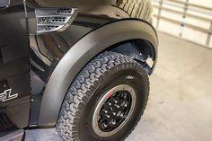2010-2014 Ford Raptor Carbon Fiber Vinyl Fender Flare Wrap Kit 4pc #carbon-fiber #Custom-Exterior-Accessories #Ford-Raptor-Exterior-Accessories
