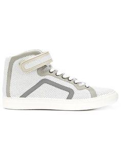 PIERRE HARDY Perforated Hi-Top Sneakers. #pierrehardy #shoes #sneakers