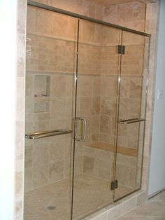 images of heavy shower doors | of our new glass shower door enclosure install photos, glass shower ...