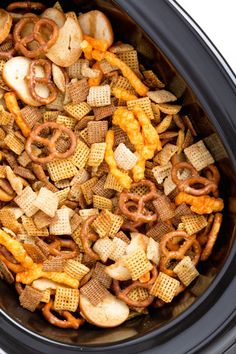 Best Slow-Cooker Chex Mix Recipe - How to Make Slow-Cooker Chex Mix