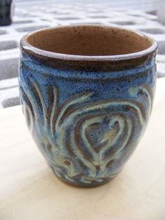 Stoneware Tumbler Water Dance 20 percent OFF SALE by DoraLAnderson on Etsy, $25.00  CouponCode LOVE20