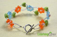 Free Beading Pattern/Tutorial - DIY - Flower Bracelet Tutorial Featured in Bead-Patterns.com Newsletter