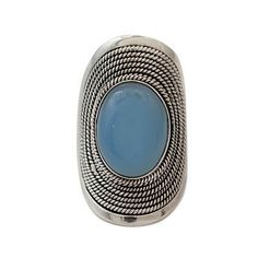 Sterling Silver Jewelry Chalcedony Ring from India - Jaipur Skies   NOVICA