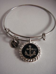 Maine Blue Mussel Anchor Bangle