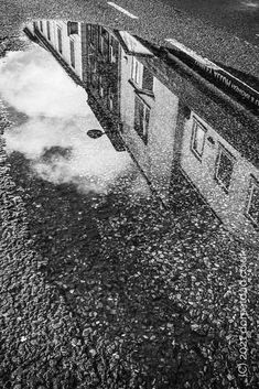A different view of the world. #blackandwhite #dorset #photography #puddle #blackandwhitephotography Black And White Photography, The Funny, Comedy, Creativity, Dads, Adventure, World, Black White Photography, Fathers