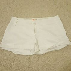 F21 White shorts Worn once. Excellent condition. I just dont wear them. Forever 21 Shorts