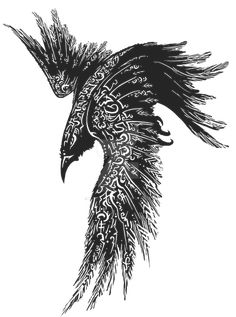 Complete Celtic Raven Tattoo Design -Read Complete Celtic Raven Tattoo Design - Raven tattoo Tribal Crow Tattoo Design More New Tattoo Feather Geometric Design Ideas Thousands ideas which viking tattoo to choose and what is its meaning Getting a Vikin. Hugin Munin Tattoo, Fenrir Tattoo, Jormungandr Tattoo, Celtic Raven Tattoo, Norse Tattoo, Viking Rune Tattoo, Tattoo Symbols, Viking Tattoos For Men, Ancient Tattoo
