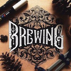 Wonderfully detailed lettering composition by @alfonsusabim