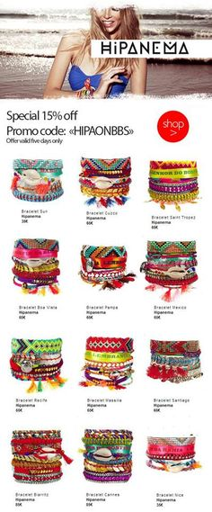 off on all Bracelet! Offer valid five days only. Fabric Jewelry, Boho Jewelry, Jewelry Crafts, Beaded Jewelry, Jewelery, Handmade Jewelry, Boho Beautiful, Ornaments Design, Bijoux Diy