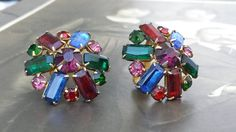 Vintage Multi Color Ruby Red Sapphire Blue by VintageGoodsToGo