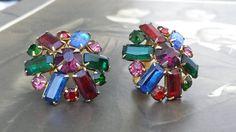 Vintage Multi Color Ruby Red Sapphire Blue by VintageGoodsToGo