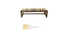 Re-claimed Wood Slatted Bench