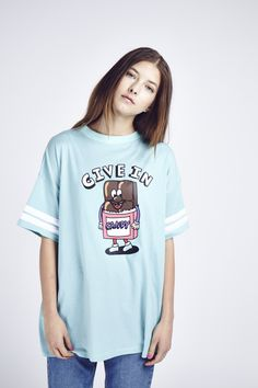 Lazy Oaf Give In Candy T-shirt http://www.lazyoaf.com/lazy-oaf-give-in-candy-t-shirt