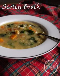 A big bowl of warming Scotch Broth Soup. Get the recipe from farmersgirlkitchen.co.uk.