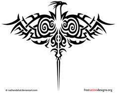 Tribal phoenix design