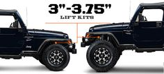 Jeep TJ Lift Kits 3 - 3.75 Inch (1997-2006 Wrangler)