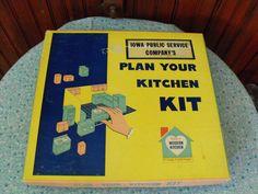 Vintage 1950's Iowa Public Service Company's Plan by peacenluv72, $37.50