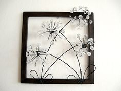 JULIE, I DO THESE AND DO A SM SCENE, COMING OUT OF LANDSCAPE, Flowers wire
