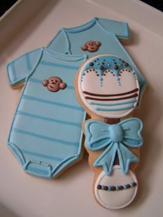 cute cookies for a baby shower I am totally in LOVE with these Cupcake Cookies! The Marbling Technique and Butterfly Cookies Baby Onesie Coo. Fancy Cookies, Iced Cookies, Cute Cookies, Cookies Et Biscuits, Cupcake Cookies, Sugar Cookies, Birthday Cookies, Monkey Cookies, Cookie Favors