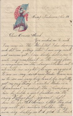 Civil War letter from soldier in the Michigan 3rd Cavalry mustered in Grand Rapids - 1861