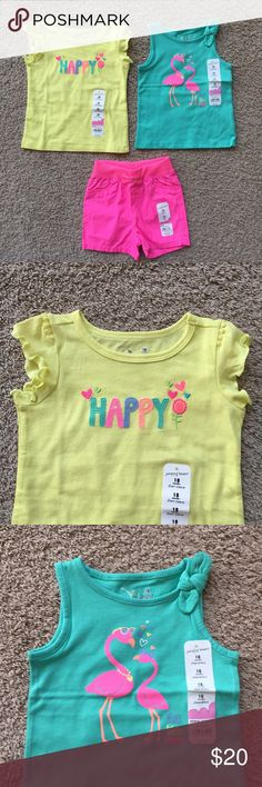 3 Piece Bundle All three pieces are new with tags. 100% cotton. Jumping Beans Matching Sets