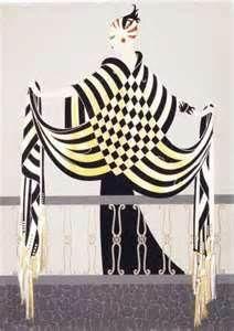 Erte, The Balcony Art Deco Decor, Art Deco Home, Art Deco Illustration, Illustrations, Checkerboard Pattern, Historical Artifacts, Art Deco Fashion, Design Elements, Art Nouveau