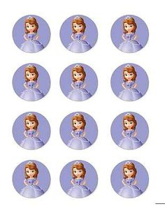 Sofia the First Edible Image Cupcake Toppers (12 per sheet)