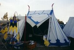 Tent Painting - inspiration and a link for how to paint canvas tents or a fly.