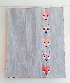 Lisa's version of Elizabeth Hartman's Fancy Fox quilt.