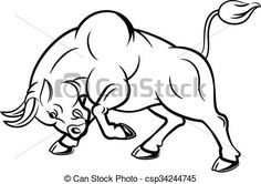 Illustration of angry bull. Vector illustration of angry bull with attacking pose. Free Illustrations, Illustration Art, Illustration Pictures, Bull Images, Tribal Wolf, Bull Tattoos, Acrilic Paintings, Leather Tooling Patterns, Pyrography Patterns
