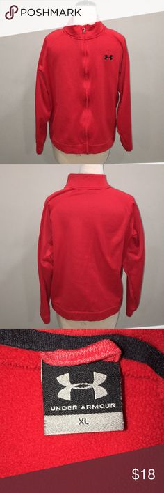 MENS UNDER ARMOUR FULL ZIP SWEATER GOOD USED CONDITION Under Armour Sweaters